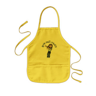 Light Girl Trumpet Player Kids Apron