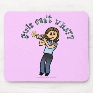 Light Girl Trumpet Player Mousepad