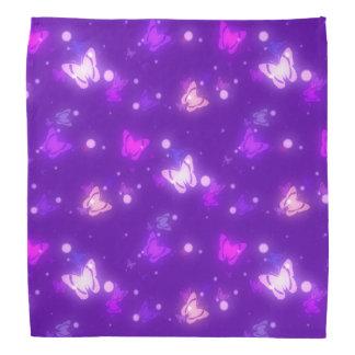Light Glow Butterflies Violet Purple Design Bandana