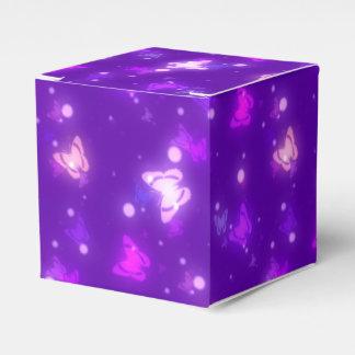 Light Glow Butterflies Violet Purple Design Favour Box