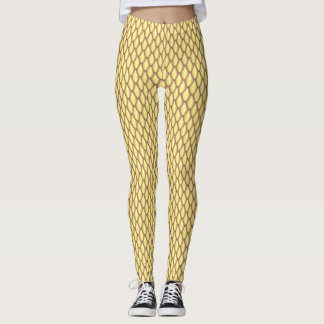 Light Gold Dragon Scale Leggings