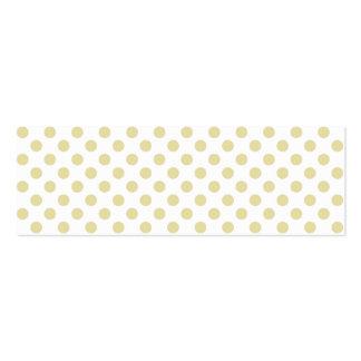 Light Gold Polka Dot Business Card
