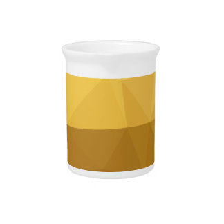 Light Goldenrod Abstract Low Polygon Background Beverage Pitchers