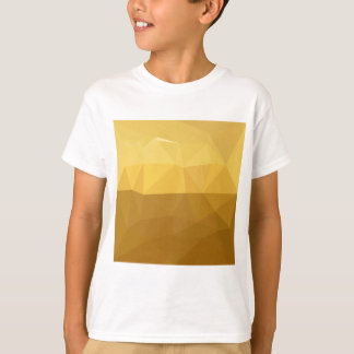 Light Goldenrod Abstract Low Polygon Background T-Shirt