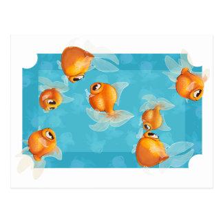 Light goldfish postcard