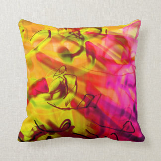Light Graffit Urban Graphic Art modern abstract Throw Pillow