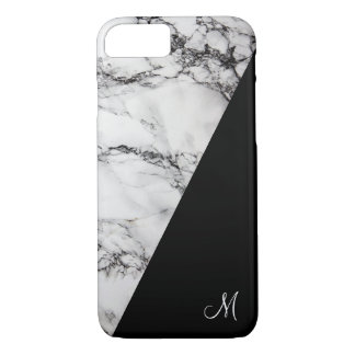 Light Gray And Black Marble Stone Texture iPhone 8/7 Case
