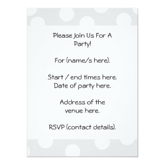 Light gray and white dotty pattern. personalized invitations