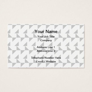 Light Gray and White Geometric Abstract Pattern. Business Card