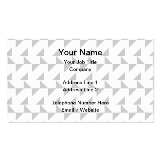 Light Gray and White Geometric Abstract Pattern. Business Card Templates