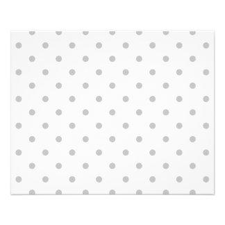Light Gray and White Polka Dot Pattern. Full Color Flyer