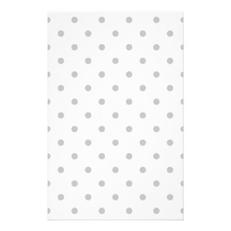 Light Gray and White Polka Dot Pattern. Personalized Flyer