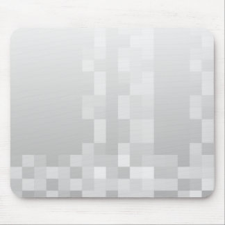 Light Gray and White Squares Pattern. Mouse Pad