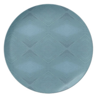 Light Gray Blue Customizable Background Dinner Plate