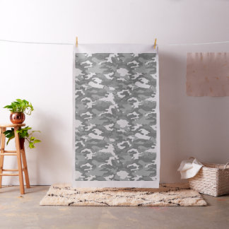 Light Gray Camo Camouflage Military Army Pattern Fabric