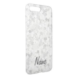 Light gray confetti design iPhone 8 plus/7 plus case