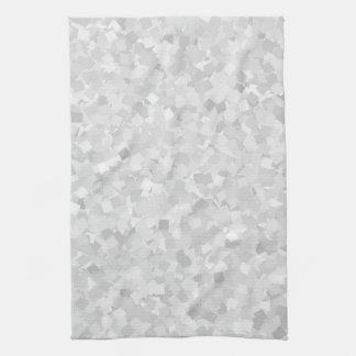 Light gray confetti design tea towel
