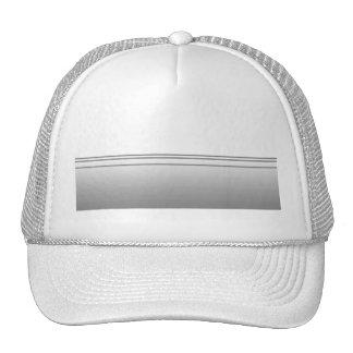 Light Gray. Elegant Design. Trucker Hats