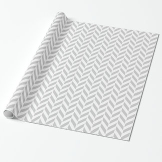 Light Gray Herringbone Print Wrapping Paper