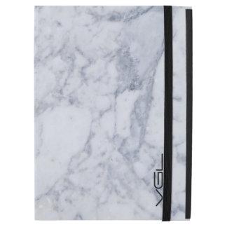 "Light Gray Marble Stone Pattern iPad Pro 12.9"" Case"