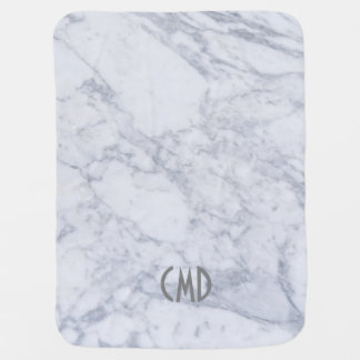 Light Gray Marble Texture Pram blankets