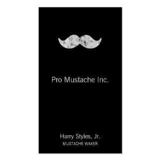 Light Gray Mustache Business Card Templates