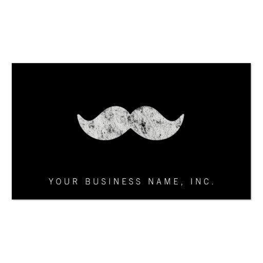Light Gray Mustache (letterpress style) Business Cards