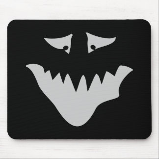 Light Gray Scary Face. Monster. Mouse Pad