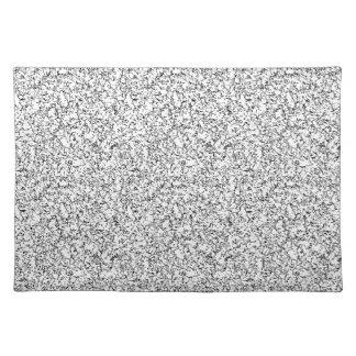 Light gray texture placemat