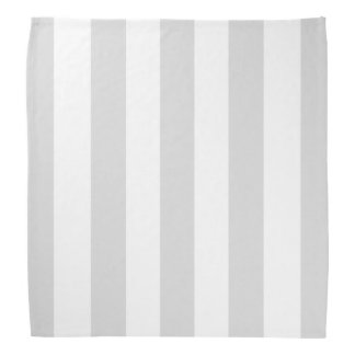 Light Gray White XL Stripes Pattern Bandana