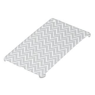 Light gray zigzag chevron pattern trendy iPad mini cases