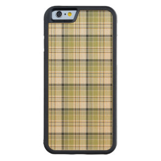 Light Green and Blue Rustic Plaid Maple iPhone 6 Bumper Case
