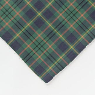 Light Green and Navy Blue Taylor Clan Tartan Fleece Blanket