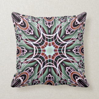 Light Green and Red Geometric American MoJo Pillow