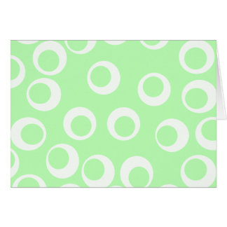 Light green and white retro pattern. note card