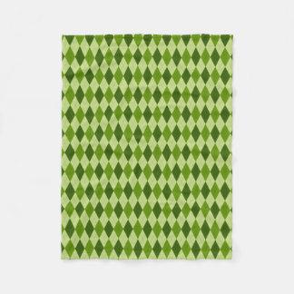 Light Green Argyle Plaid Fleece Blanket