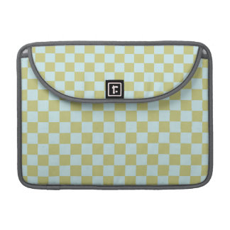 Light Green, Baby Blue, Checkered Squares Sleeves For MacBooks