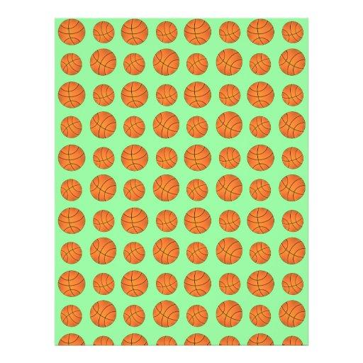 light green basketball pattern flyer