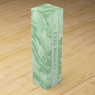 Light Green Camo w/ Custom Text Wine Bottle Box