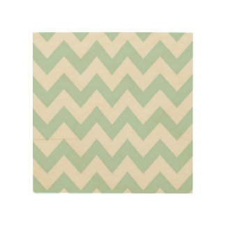 Light Green Chevron Wood Print