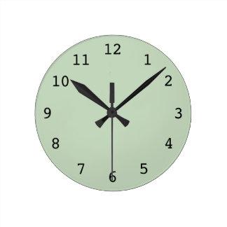 Light green clock
