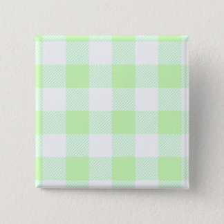 light green gingham check 15 cm square badge