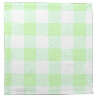 light green gingham check napkin