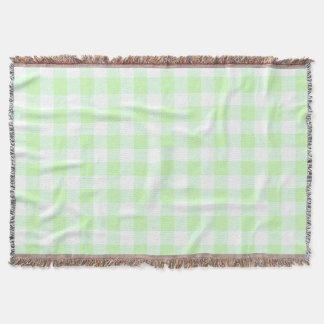 light green gingham check pattern