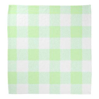 light green gingham check pattern bandana