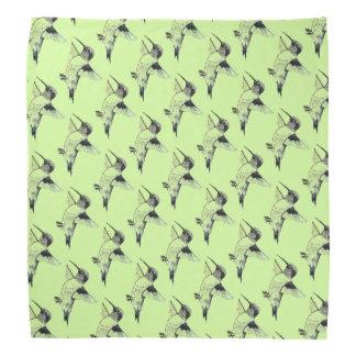 Light Green Humminbirds Bandana