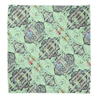 Light Green Lunar Moth Pattern Kerchiefs