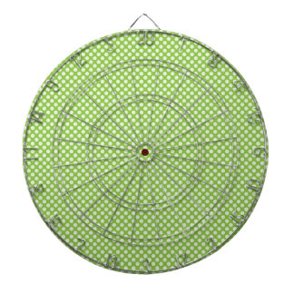 Light Green Polka Dots Dartboards