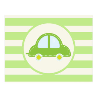 Light Green Toy Car Post Card