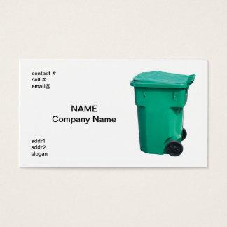 light  green trash can business card